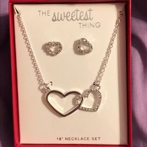 Jewelry - 925 silver necklace and earring set!